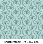 art deco seamless pattern.... | Shutterstock .eps vector #753562126