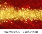 Red And Gold Abstract Christma...