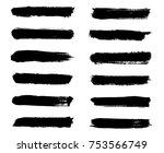 isolated vector set of brush... | Shutterstock .eps vector #753566749