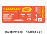stand up comedy show ticket... | Shutterstock .eps vector #753566914