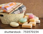 Soap And Towels In The Basket....