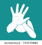 woman stretching out hand for... | Shutterstock .eps vector #753570880