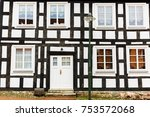 front view of a typical old... | Shutterstock . vector #753572068