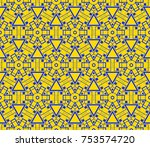 abstract repeat backdrop.... | Shutterstock .eps vector #753574720