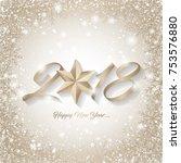 new year card vector... | Shutterstock .eps vector #753576880
