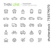 collection of transport line... | Shutterstock .eps vector #753579070