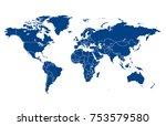 world map vector | Shutterstock .eps vector #753579580
