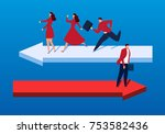 arrows in different directions   Shutterstock .eps vector #753582436