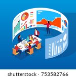 a group of people in the front... | Shutterstock .eps vector #753582766