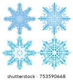vector graceful snowflakes for... | Shutterstock .eps vector #753590668