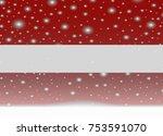 latvia flag on christmas...   Shutterstock .eps vector #753591070