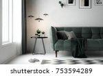 interior living room ... | Shutterstock . vector #753594289