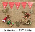 the concept of christmas...   Shutterstock . vector #753596014