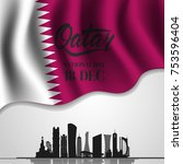 qatar national day on 18 th... | Shutterstock .eps vector #753596404