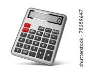 silver calculator. 3d image.... | Shutterstock . vector #75359647