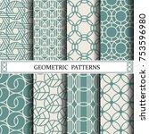 circle geometric vector pattern ...   Shutterstock .eps vector #753596980