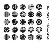 circle geometric vector icon  ... | Shutterstock .eps vector #753596983
