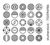 circle geometric vector icon  ... | Shutterstock .eps vector #753596986