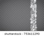 blizzard snowflake on... | Shutterstock .eps vector #753611290