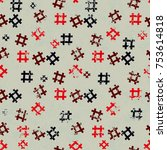 hashtag icon seamless pattern... | Shutterstock .eps vector #753614818