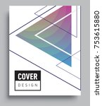 cover design template with...   Shutterstock .eps vector #753615880