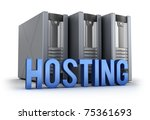 Hosting word and Servers - stock photo