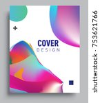cover design template with...   Shutterstock .eps vector #753621766