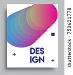 cover design template with... | Shutterstock .eps vector #753621778