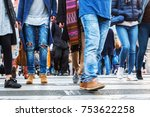 picture of crowds of people in... | Shutterstock . vector #753622258