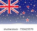 new zealand flag on christmas... | Shutterstock .eps vector #753625570
