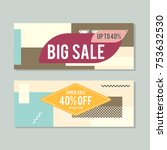 super sale discount banner... | Shutterstock .eps vector #753632530