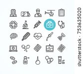 medicine symbols and signs... | Shutterstock .eps vector #753635020