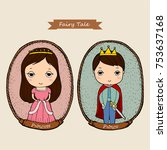 fairy tale couple  prince and... | Shutterstock .eps vector #753637168
