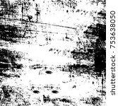 vector black and white grunge... | Shutterstock .eps vector #753638050