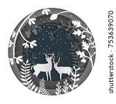 paper art illustrations. the... | Shutterstock .eps vector #753639070