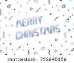vector merry christmas card.... | Shutterstock .eps vector #753640156