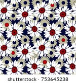 floral pattern on background  | Shutterstock .eps vector #753645238