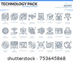 security icons set. editable... | Shutterstock .eps vector #753645868