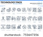 web and graphic design icons...   Shutterstock .eps vector #753647356