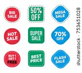 sale badge set isolated in white | Shutterstock .eps vector #753651028