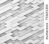 3d render  abstract geometry... | Shutterstock . vector #753651304
