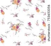 floral pattern in vector | Shutterstock .eps vector #753653356