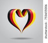 german flag heart shaped wavy... | Shutterstock .eps vector #753655006