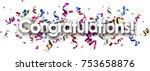 white congratulations banner... | Shutterstock .eps vector #753658876