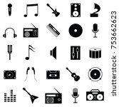 musical icon set | Shutterstock .eps vector #753662623