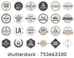 vintage retro vector logo for... | Shutterstock .eps vector #753663100