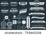 vintage retro vector logo for... | Shutterstock .eps vector #753663106