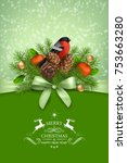 vector christmas and new year... | Shutterstock .eps vector #753663280
