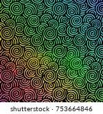 abstract glass texture... | Shutterstock . vector #753664846
