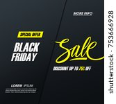 black friday sale. special... | Shutterstock .eps vector #753666928